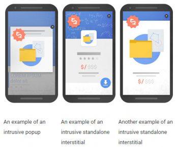 Dal 10 gennaio 2017 meno visibilità sulle SERP di Google per i siti mobile che fanno uso di popup a tutta pagina