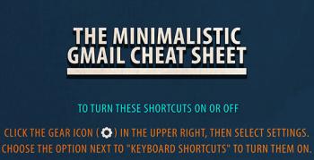 Le scorciatoie da tastiera per Gmail in un'infografica