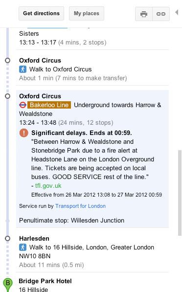 Avvisi in tempo reale sulle condizioni della metro di Londra sugli smartphone Android
