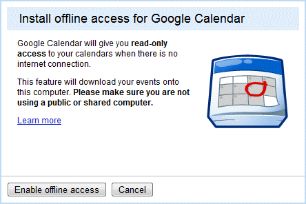 calendar-offline-access