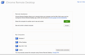 Chrome Remote Desktop, lo screen sharing di Google è disponibile