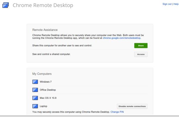 Chrome Remote Desktop, lo screen sharing di Google è disponibile
