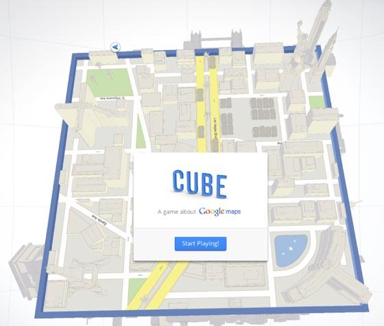 Cube, gioco Google Maps