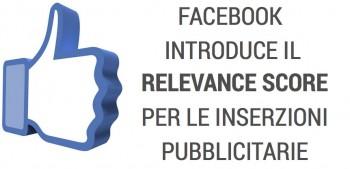 Facebook introduce il Relevance Score sulle inserzioni