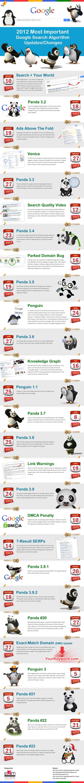 Infografica algoritmo di Google 2012