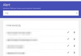 Google rinnova la veste grafica di Google Alerts