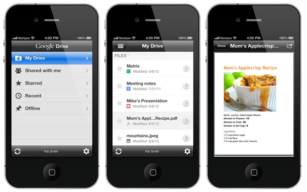 Google Drive per iOS