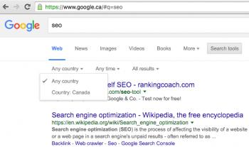 Google ha rimosso la possibilità di filtrare i risultati di ricerca in base alla località