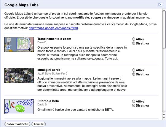 Google Maps Labs per provare nuove funzionalità sulle mappe