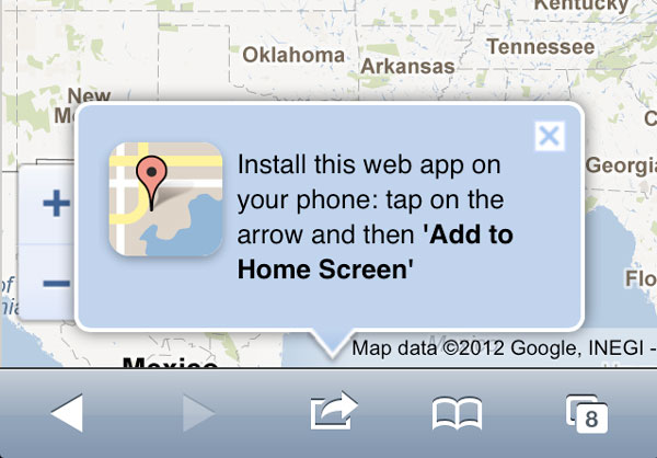Google Maps visto su iPhone con iOS 6