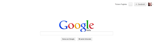 Google senza barra dei menu