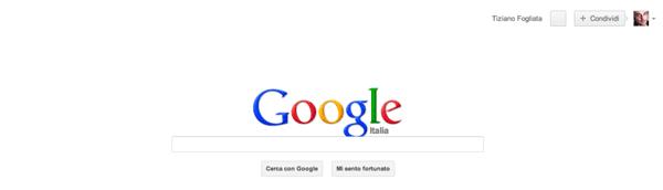 Google senza barra dei menu