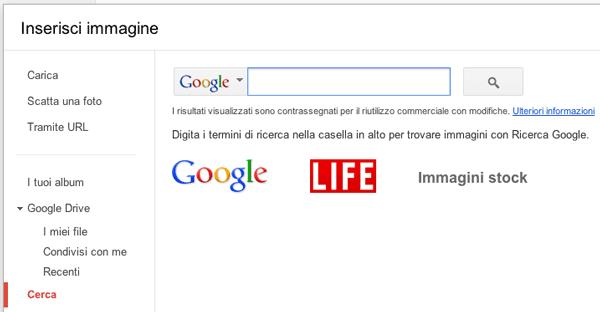 Inserire immagini in un documento su Google Docs