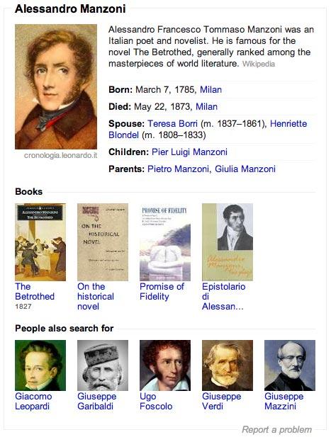 Alessandro Manzoni su Google