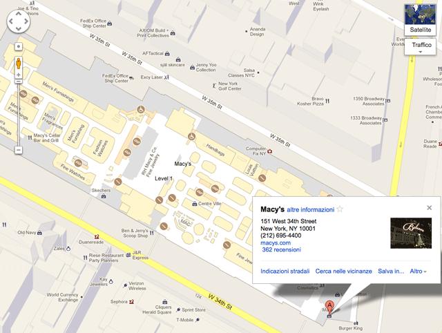 google maps aggiunge le planimetrie degli edifici anche