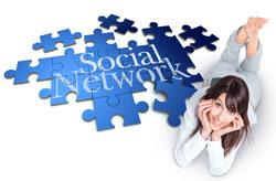 Ragazza sui social