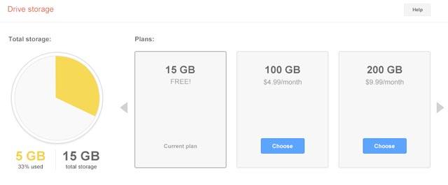 15 Gb di spazio per Gmail e Google Drive