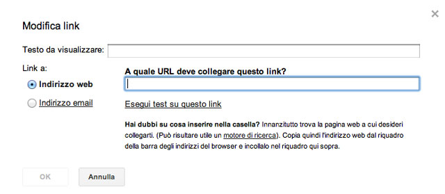 Inserire un link in un messaggio di posta su Gmail