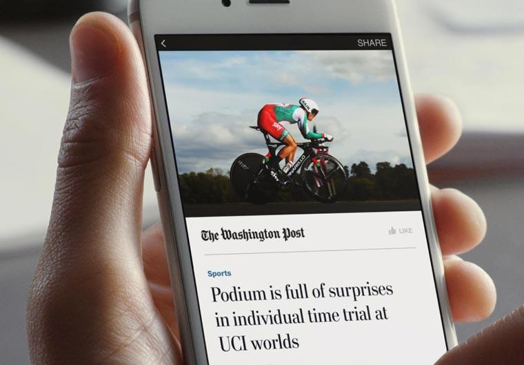 Gli Instant Articles sulle app mobile di Facebook
