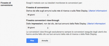 Google ridurrà a 1 giorno la finestra delle conversioni view-through su AdWords