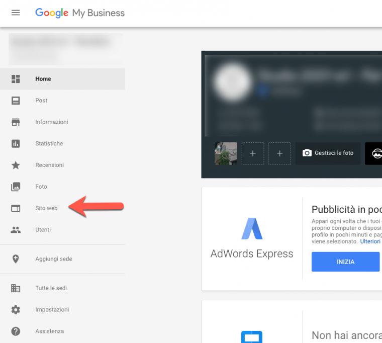 Realizzare un sito web gratis con google my business for Sito web piano gratuito
