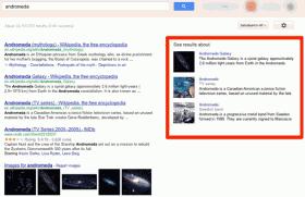 Ricerca di andromeda col nuovo Google