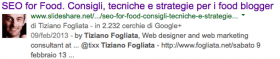 Google Authorship sulle SERP di Google