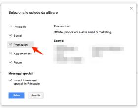 La pubblicità su Gmail appare anche come messaggio di posta