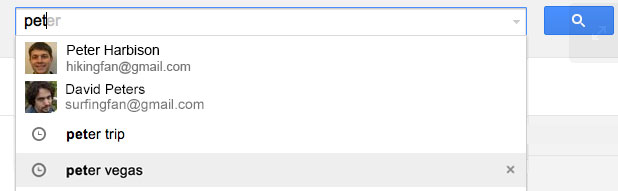 Autocoompletamento ricerca su Gmail