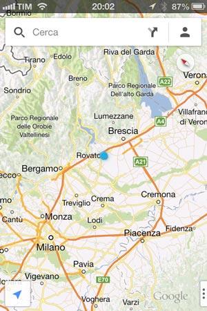 App delle mappe di Google su iPhone