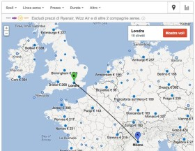 Ricerca voli con Google Flight