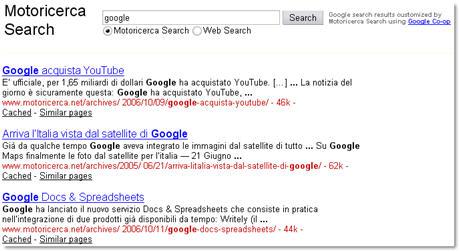 Un motore di ricerca personalizzato con Google