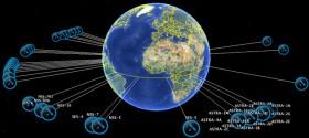 Posizione dei satelliti geostazionari Astra intorno al pianeta Terra