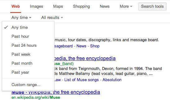 Strumenti di ricerca avanzati sulle SERP di Google