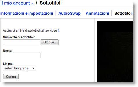 sottotitoli su YouTube