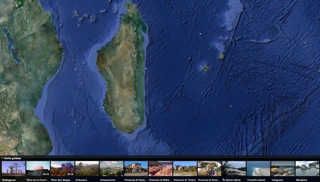 visite guidate su Google Earth