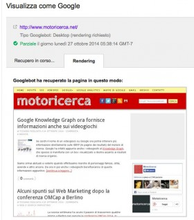 Visualizza una pagina web come Google